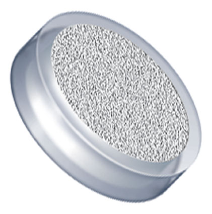 "Filters & Frits: Stainless Steel Frit in PCTFE Ring, Natural, 20µm, 0.188"" Frit OD, 0.254"" Ring OD"