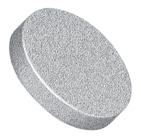 """Filters & Frits: Stainless Steel Frit, Natural, 2µm, 0.375"""" (0.95cm) Frit OD"""